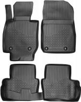 Коврики в салон для Mazda CX-3 '15- полиуретановые, черные (Novline / Element)