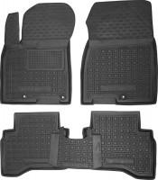 Коврики в салон для Kia Niro '17-, без задних креп. ковров, резиновые, черные (AVTO-Gumm)