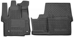 Коврики в салон для Peugeot Traveller '16- резиновые, черные (AVTO-Gumm) 1+1