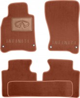 Коврики в салон для Infiniti M (Q70) '11- текстильные, терракотовые (Премиум)