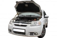 Упоры капота газовые для Chevrolet Aveo '06-11 T250, 2 шт.