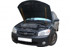 Упоры капота газовые для Kia Cerato '04-09, 2 шт.