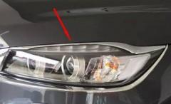 Накладки на фары для Kia Sorento  '15-, верхние, передние, хром (ASP)