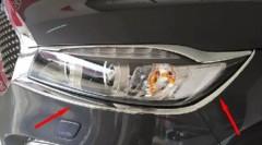 Накладки на фары для Kia Sorento '15-, нижние, передние, хром (ASP)