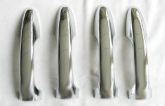Накладки на дверные ручки для Toyota RAV4 '13-, хром, тип A (ASP)