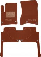 Коврики в салон для Audi Q7 '05-14 текстильные, терракотовые (Премиум) 8 клипс