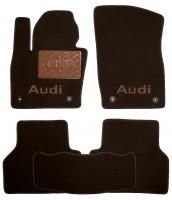 Коврики в салон для Audi Q3 '11- текстильные, коричневые (Премиум) 4 клипсы