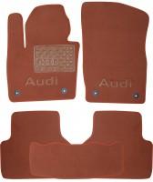 Коврики в салон для Audi Q3 '11- текстильные, терракотовые (Премиум) 4 клипсы