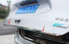Накладка для задней двери для Nissan X-Trail (T32) '14-,  хром, нержавеющая сталь, с ребром (ASP)