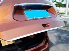 Накладка для задней двери для Nissan X-Trail (T32) '14-,  хром, нержавеющая сталь, плоская (ASP)