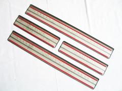 Фото 4 - Накладки на пороги для Nissan X-Trail (T32) '14-, нержавеющая сталь, тип С  (ASP)