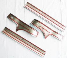 Фото 3 - Накладки на пороги для Nissan X-Trail (T32) '14-, верхние, тип А  (ASP)