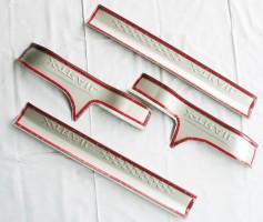 Фото 4 - Накладки на пороги для Nissan X-Trail (T32) '14-, верхние, тип C (ASP)