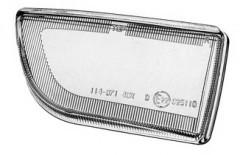 Стекло противотуманной фары для Nissan Primera '96-99 P11/W11 левое (FPS)