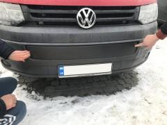 Решетка радиатора зимняя для Volkswagen Transporter T5 '10-15 нижняя, глянцевая (Украина)