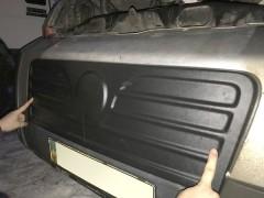 Решетка радиатора зимняя для Fiat Ducato '06-14 верхняя, матовая (Украина)