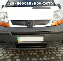 Решетка радиатора зимняя для Volkswagen Transporter T5 '03-10 нижняя длинн., глянцевая (Украина)