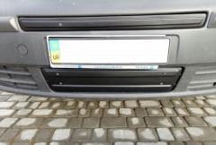 Решетка радиатора зимняя для Opel Vivaro '07-14 нижняя, глянцевая (Украина)