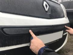 Решетка радиатора зимняя для Renault Kangoo '09-13 верхняя, глянцевая (Украина)