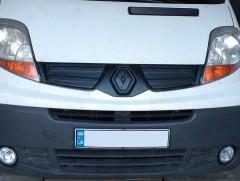 Решетка радиатора зимняя для Renault Trafic '06-14 верхняя, глянцевая (Украина)