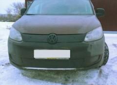 Решетка радиатора зимняя для Volkswagen Caddy '10-15 верхняя, матовая (Украина)