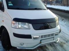 Решетка радиатора зимняя для Volkswagen Transporter T5 '03-10 верхняя, матовая (Украина)