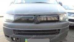 Решетка радиатора зимняя для Volkswagen Transporter T5 '10-15 верхняя, глянцевая (Украина)