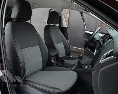 Авточехлы Premium для салона Skoda Octavia A7 '17-, серая строчка (MW Brothers)