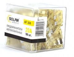 Набор предохранителей Solar Стандарт 20А, 100 шт