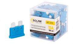 Набор предохранителей Solar Стандарт 15А, 100 шт