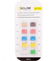 Набор предохранителей Solar Стандарт MIX (5А,7,5А,10А,15А,20А,25А,30А), 10 шт