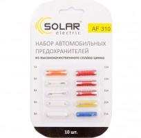 Набор предохранителей цилиндрических Solar MIX (5А,8А,16А,20А,25А), 10 шт.