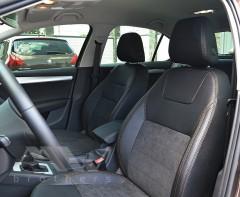 Авточехлы Leather Style для салона Skoda Octavia A7 '17-, коричневая строчка (MW Brothers)