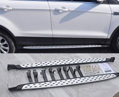 Пороги (подножки) для Ford Kuga '13- (ASP) V2