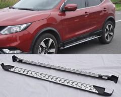 Пороги (подножки) для Nissan Qashqai '14- (ASP)