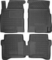 Коврики в салон для Nissan Primera '02-08 резиновые, черные (AVTO-Gumm)