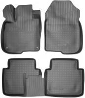 Коврики в салон для Honda CR-V '17- полиуретановые. чёрные (Nor-Plast)
