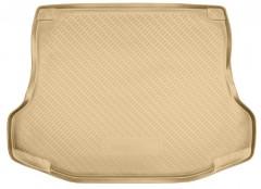 Коврик в багажник для Nissan Tiida '05-14 седан, полиуретановый (NorPlast) бежевый
