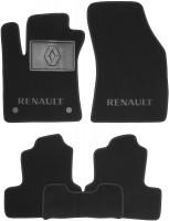 Коврики в салон для Renault Megane 4 '16- хэтчбек текстильные, черные (Люкс) 2 клипсы