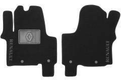 Коврики в салон для Renault Trafic '15- передние текстильные, черные (Люкс) 4 клипсы