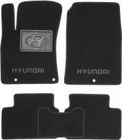 Коврики в салон для Hyundai i30 PD '17-, текстильные, черные (Люкс)