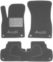 Коврики в салон для Audi Q5 '17- текстильные, серые (Премиум) 8 клипс