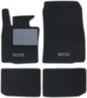 Коврики в салон для Mini Countryman '10-16 текстильные, серые (Люкс)