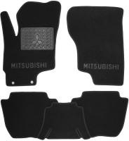 Коврики в салон для Mitsubishi Outlander '16- PHEV текстильные, черные (Люкс)