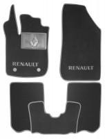 Коврики в салон для Renault Sandero Stepway '13-, текстильные, серые (Люкс) 2 клипсы
