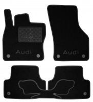 Коврики в салон для Audi A3 '12- текстильные, черные (Люкс) 8 клипс