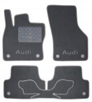 Коврики в салон для Audi A3 '12- текстильные, серые (Люкс) 8 клипс