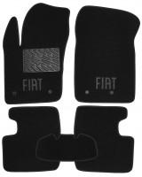 Коврики в салон для Fiat 500X '14-, текстильные, черные (Люкс) 4 клипсы