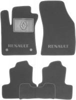 Коврики в салон для Renault Megane 4 '16- хэтчбек текстильные, серые (Люкс) 2 клипсы