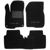 Коврики в салон для Honda CR-V '17-, текстильные, черные (Люкс) 2 клипсы